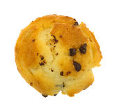 Top view of a chocolate chip muffin Royalty Free Stock Photos
