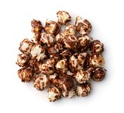 Top view of chocolate popcorn royalty free stock photography