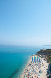 Top view of the church located on the island of Tropea, Calabria Royalty Free Stock Photos