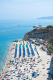 Top view of the church located on the island of Tropea, Calabria Royalty Free Stock Image