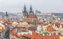 Top view citiscape of prague Stock Images