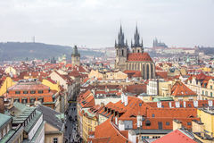 Top view citiscape of prague Royalty Free Stock Photos