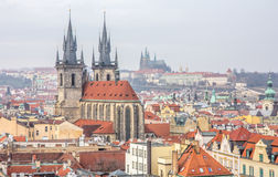 Top view citiscape of prague Stock Photo