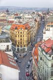 Top view citiscape of prague Royalty Free Stock Images