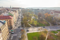 Top view citiscape of prague Stock Photos