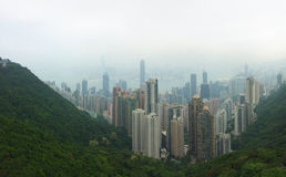 Top view city building The Peak Hongkong Royalty Free Stock Photography
