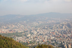 Top view of the city of Caracas Stock Images
