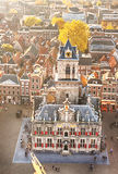 Top view of the City Hall of Delft, Holland royalty free stock photos