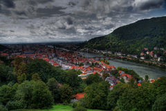 Top view of the city of Heidelberg in HDR Stock Photos