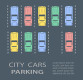 Top view city parking Royalty Free Stock Photography