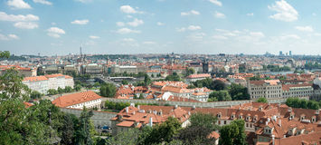 Top view of the city of Prague Royalty Free Stock Photos
