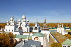 Top view of the city of Rostov the Great Royalty Free Stock Photos