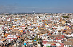Top view on the city of Seville Royalty Free Stock Image