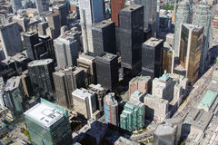 Top view of the city of Toronto, Canada Royalty Free Stock Photos