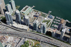 Top view of the city of Toronto, Canada Royalty Free Stock Images