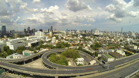Top view of city transportation at Bangkok. Top view of city transportation at Bangkok, Thailand. Time lapse stock video footage