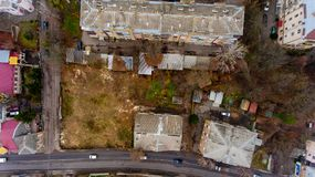 Top view of the city wasteland. Aerial view Royalty Free Stock Photography