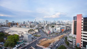 Top view cityscape of Bangkok Thailand, Haulamphong station stock video footage