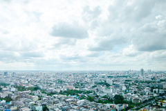 Top view cityscape with cloudy sky Royalty Free Stock Photos