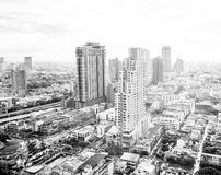 Top view cityscape with cloudy sky Stock Photos