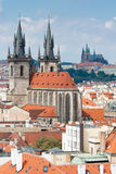Top view cityscape on old Prague Royalty Free Stock Photo