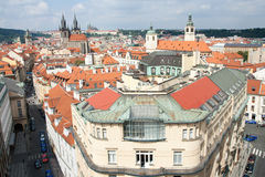 Top view cityscape on old Prague district Stock Photography