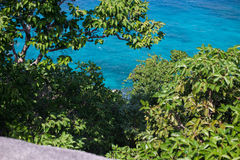 Top view clear sea on the island of Koh Similan Stock Images