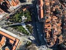 Top View of Clerigos Tower, Porto, Portugal Royalty Free Stock Images