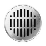 Top view of the closed sewer manhole. Royalty Free Stock Photography