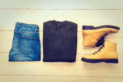 Top view of clothing royalty free stock photos