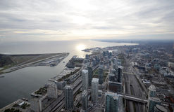 Top view of the coast. View on the streets of Toronto City, Ontario province, Canada. The photo was taken in November 2013 Stock Image