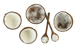 Top view of coconuts Royalty Free Stock Images