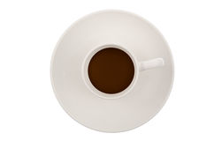 Top view of coffee cup Royalty Free Stock Photo