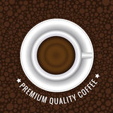 Top view coffee cup and circles background Royalty Free Stock Photos