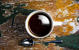 Top view of coffee cup Royalty Free Stock Images