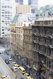 Top view of Collins Street in Melbourne, Australia Royalty Free Stock Images