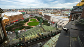 Top view from the colonnade of St.Isaac's Cathedral Stock Image