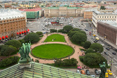 Top view from the colonnade of St.Isaac's Cathedral Royalty Free Stock Photography