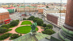 Top view from the colonnade of St.Isaac's Cathedral. Stock Photo