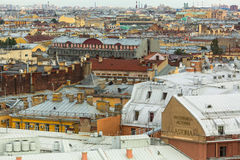 Top view from the colonnade of St.Isaac's Cathedral. Royalty Free Stock Photo