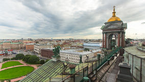 Top view from the colonnade of St.Isaac's Cathedral. Stock Image