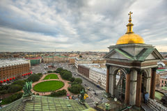 Top view from the colonnade of St.Isaac's Cathedral Stock Images