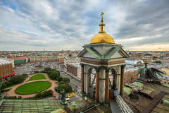 Top view from the colonnade of St.Isaac's Cathedral. Stock Images