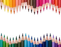 Top view of colored pencils Stock Image