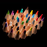 Top view of colored pencils Stock Images