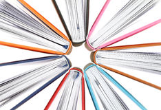 Top view of colorful books in a circle Stock Photo