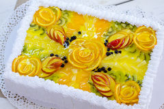 Top view of colorful cake. Stock Image