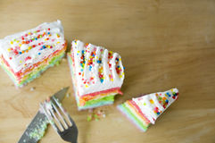 Top view of colorful cake Stock Photo