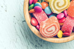 Top view of colorful candy Stock Photography