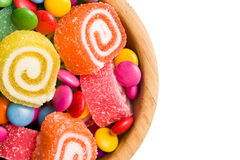 Top view of colorful candy Royalty Free Stock Image